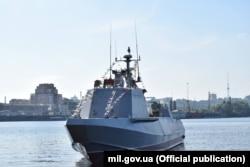 Десантно-штурмовий катер «Кентавр» на Київському морі, осінь 2018 року. Фото Міністерства оборони України