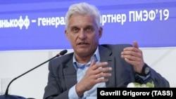 Oleg Tinkov attends the 2019 St. Petersburg International Economic Forum in June 2019.