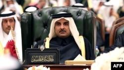 Действующий эмир Катара, внук покойного правителя, шейх Тамим бин Хамад аль-Тани.