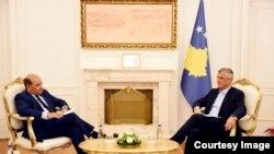 Presidenti i Kosovës, Hashim Thaçi së bashku me Presidentin e BERZH, Suma Chakrabarti