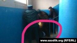 Избиение участкового инспектора в Ташкенте, 20 февраля 2019 года.