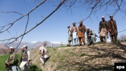 Pakistani Pashto tribal men near Bajaur