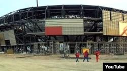 Строительство Crystal Hall в Баку, 26 января 2012