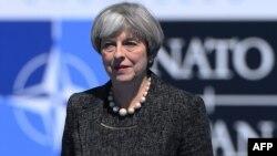 Britanska premijerka Theresa May je stigla na sastanak NATO-u Briselu 25. maja 2017.