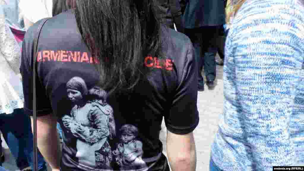 Наведнікі ў майках «Армянскі генацыд»