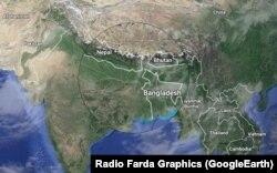 مناطق مرزی بنگلادش شمال و شمال شرقی هند و جنوب نپال