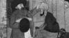 «کارخانه سیدسازی گنجه»: مردی با تعویض عمامه سفید یک دهاتی با یک عمامه سیاه او را تبدیل به «سید» میکند؛ کاریکاتور از مجله «ملانصرالدین» ش. ۳۱، سوم نوامبر ۱۹۰۶