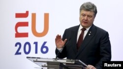 Президент Петро Порошенко Брюсселде., 17-март, 2016-жыл