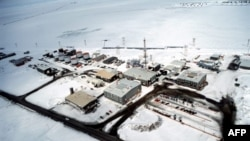 U.S. -- The BP production facility in Prudhoe Bay