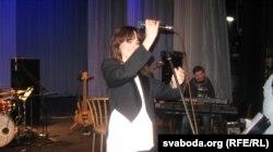 Наталя Немэн на сцэне Гарадзенскага драматычнага тэатра