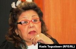 Судья Алматинского городского суда Кульпаш Утемисова, председательствующая на апелляционном суде по делу об убийстве кыргызского журналиста Геннадия Павлюка. Алматы, 7 февраля 2012 года.