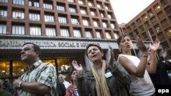 Protest u Madridu na kojem se tražila ostavka ministra zdravstva Ane Mato zbog slučaja zaražene sestre