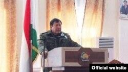 Täjigistanyň içeri işler ministri Ramazon Rahimzoda, Duşenbe, 14-nji dekabr, 2015
