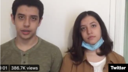 The children of jailed activist Narges Mohammadi campaigned for the right to speak with their jailed mother by posting a video on Twitter.