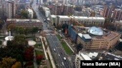 Скопје од птичја перспектива. Собранието со новите куполи. Фото: Ивана Батев(МИА)