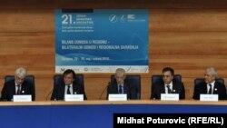 Sa sesije Igmanske inicijative u Sarajevu kojoj su prisustvovali predsednici zemalja regije - Boris Tadić, Filip Vujanović, Haris Silajdžić i Ivo Josipović, 29 maj 2010, foto Midhat Poturović