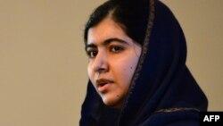 Pakistani activist and Nobel Peace Prize laureate Malala Yousafzai speaks during an event to commemorate the Peshawar school massacre in Birmingham, England.