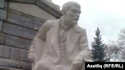 The newly unveiled monument to Lenin in Ufa, Bashkortostan.