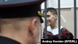 Надежда Саченко в зале суда. Москва, 26 мая 2015