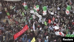 Идлибта Бәшәр Әсад режимына каршы протест чарасы.