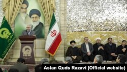 Morteza Bakhtiari, the deputy of custodian and chairman of Astan Quds Razavi, in a meeting with the personnel of Astan on Sunday, November 24, 2018.