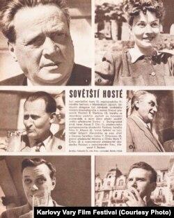 Советские гости кинофестиваля, 1949