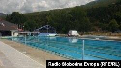 Возобновениот отворен базен во Охрид