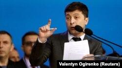 Владимир Зеленский на дебатах