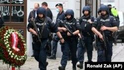 حضور سنگین نیروهای پلیس در خیابانهای وین، پایتخت اتریش