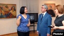 Նախագահ Սերժ Սարգսյանը Մարտիրոս Սարյանի տուն-թանգարանում, արխիվ