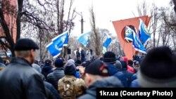 Акція працівників «АрселорМіттал Кривий Ріг», 14 березня 2018 року (фото «Першого Криворізького»)