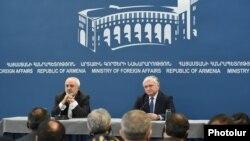 Пресс-конференция глав МИД Армении и Ирана, Ереван, 27 января 2015 г.
