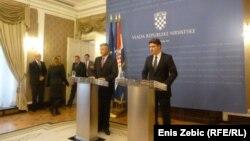 Kosovski premijer Hašim Thaci sa hrvatskim kolegom Zoranom Milanovićem u zvaničnoj posjeti zagrebu