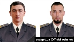 SBU Colonels Denys Volochayev (left) and Dmytro Kaplunov were killed in combat in eastern Ukraine.