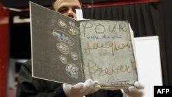 Книга с текстами французского поэта Жака Превера и рисунками Пикассо. Была продана в 2010 году за 250 тысяч евро