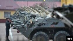 Հետևակի մարտական մեքենաներ Ուկրաինայի զինված ուժերի ստորաբաժանումներից մեկում, արխիվ