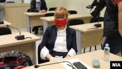 """Обвинителката Вилма Русковска во Суд за случајот """"Рекет"""""""