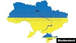 Векторная карта Украины. Иллюстративное фото.