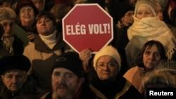 Анти-владините протести во Будимпешта во јануари
