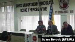 Predstavnici sindikata na jutrošnjoj press konferenciji uoči protesta
