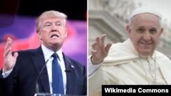 Дональд Трамп и Папа Римский Франциск.