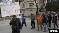 Протест на стечјаците во Куманово.