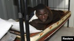 A prisoner at Guwasim prison near Gharyan, 75 kilometers south of Tripoli