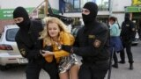 BELARUS – During the detention by security officers of the participants of the women's march in Minsk, September 19, 2020