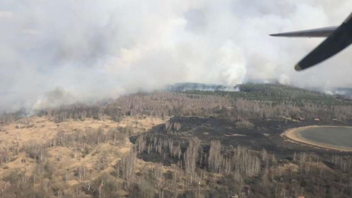 Площадь пожара в зоне отчуждения ЧАЭС увеличилась – ГСЧС