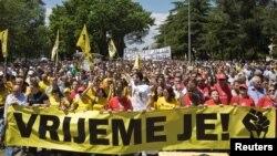Падгорыца, марш пратэсту супраць карупцыі