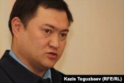 Прокурор из Алматинской городской прокуратуры Еркин Майшинов. Алматы, 27 января 2014 года.