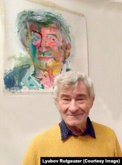 На стене в берлинской квартире портрет Владимира Сычева работы Валерия Кошлякова (фото – Любовь Рутгайзер)