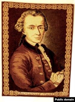 Коврик с портретом философа Иммануила Канта в подарок Калининграду от белорусских ткачей