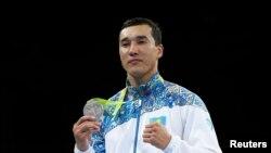 Әділбек Ниязымбетов Рио олимпиадасында күміс алған сәт. 18 тамыз 2016 жыл.